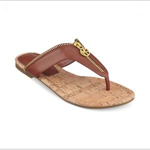 Marc Fisher Meghan Zipper Thong Sandal Siz…